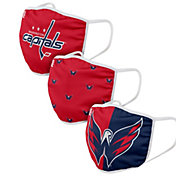 FOCO Adult Washington Capitals 3-Pack Face Coverings