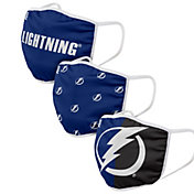 FOCO Adult Tampa Bay Lightning 3-Pack Facemasks