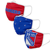 FOCO Adult New York Rangers 3-Pack Face Coverings
