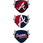 FOCO Youth Atlanta Braves 3-Pack Face Coverings