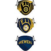 FOCO Youth Milwaukee Brewers 3-Pack Face Coverings