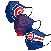 FOCO Adult Chicago Cubs 3-Pack Face Coverings