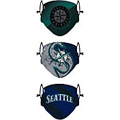 FOCO Youth Seattle Mariners 3-Pack Face Coverings