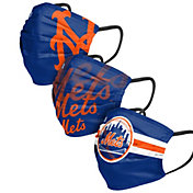 FOCO Adult New York Mets 3-Pack Face Coverings