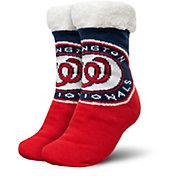 FOCO Washington Nationals Cozy Footy Slippers