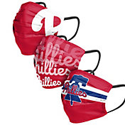 FOCO Adult Philadelphia Phillies 3-Pack Face Coverings