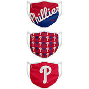 FOCO Youth Philadelphia Phillies 3-Pack Face Coverings