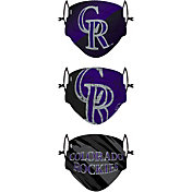 FOCO Youth Colorado Rockies 3-Pack Face Coverings