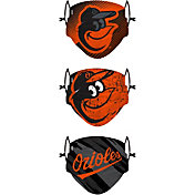 FOCO Youth Baltimore Orioles 3-Pack Face Coverings