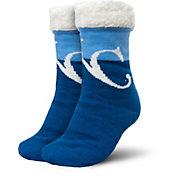 FOCO Kansas City Royals Cozy Footy Slippers
