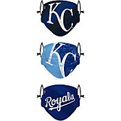 FOCO Youth Kansas City Royals 3-Pack Face Coverings