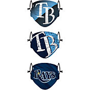 FOCO Youth Tampa Bay Rays 3-Pack Face Coverings