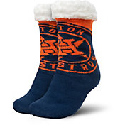 FOCO Houston Astros Cozy Footy Slippers