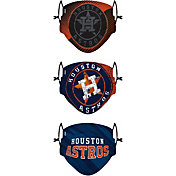 FOCO Youth Houston Astros 3-Pack Face Coverings