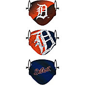 FOCO Youth Detroit Tigers 3-Pack Face Coverings