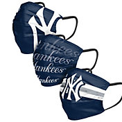 FOCO Adult New York Yankees 3-Pack Face Coverings