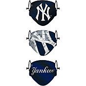 FOCO Youth New York Yankees 3-Pack Face Coverings