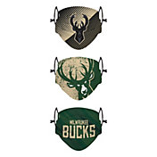 FOCO Youth Milwaukee Bucks 3-Pack Face Coverings