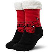 FOCO Chicago Bulls Cozy Footy Slippers