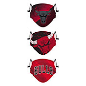 FOCO Youth Chicago Bulls 3-Pack Face Coverings