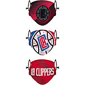 FOCO Adult Los Angeles Clippers 3-Pack Matchday Face Coverings