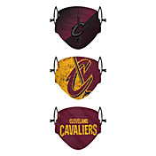 FOCO Youth Cleveland Cavaliers 3-Pack Face Coverings