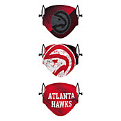 FOCO Youth Atlanta Hawks 3-Pack Face Coverings