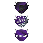 FOCO Youth Sacramento Kings 3-Pack Face Coverings