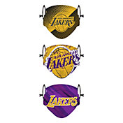 FOCO Youth Los Angeles Lakers 3-Pack Face Coverings