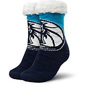 FOCO Dallas Mavericks Cozy Footy Slippers