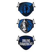 FOCO Youth Dallas Mavericks 3-Pack Face Coverings