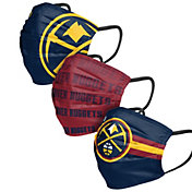 FOCO Adult Denver Nuggets 3-Pack Matchday Face Coverings