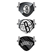FOCO Youth Brooklyn Nets 3-Pack Face Coverings