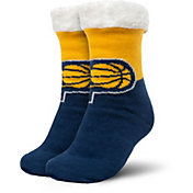 FOCO Indiana Pacers Cozy Footy Slippers