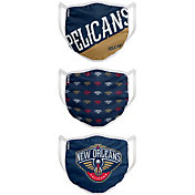 FOCO Youth New Orleans Pelicans 3-Pack Face Coverings