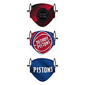 FOCO Youth Detroit Pistons 3-Pack Face Coverings