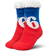 FOCO Philadelphia 76ers Cozy Footy Slippers