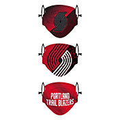 FOCO Youth Portland Trail Blazers 3-Pack Face Coverings