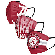 FOCO Adult Alabama Crimson Tide 3-Pack Matchday Face Coverings