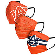 FOCO Adult Auburn Tigers 3-Pack Matchday Face Coverings