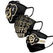 FOCO Adult Colorado Buffaloes 3-Pack Matchday Face Masks