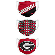 FOCO Youth Georgia Bulldogs 3-Pack Face Coverings