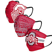 FOCO Adult Ohio State Buckeyes 3-Pack Matchday Face Coverings