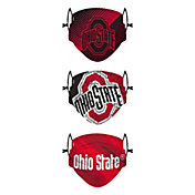 FOCO Youth Ohio State Buckeyes 3-Pack Face Coverings