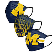 FOCO Adult Michigan Wolverines 3-Pack Matchday Face Coverings