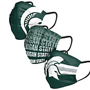 FOCO Adult Michigan State Spartans 3-Pack Matchday Face Coverings