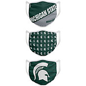 FOCO Youth Michigan State Spartans 3-Pack Face Coverings