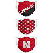 FOCO Youth Nebraska Cornhuskers 3-Pack Face Coverings