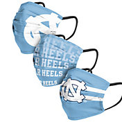 FOCO Adult North Carolina Tar Heels 3-Pack Matchday Face Coverings
