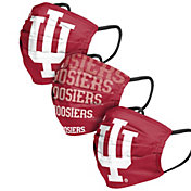 FOCO Adult Indiana Hoosiers 3-Pack Matchday Face Coverings